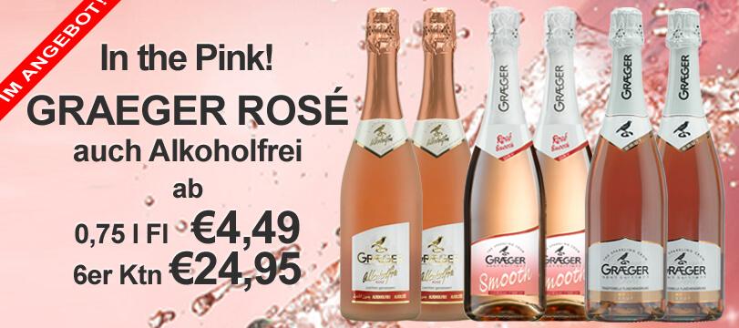 Rose Sekt und Rosewein im Angebot