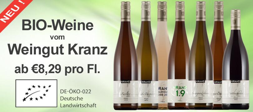 Bioweine vom Öko-Qualifizierten Weingut Kranz jetzt erhältlich