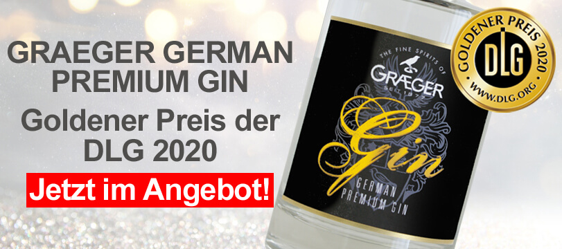 Graeger German Premium Gin gewinnt den goldenen Preis der DLG