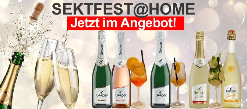 Feiern Sie Sektfest@Home mit Graeger Sekt